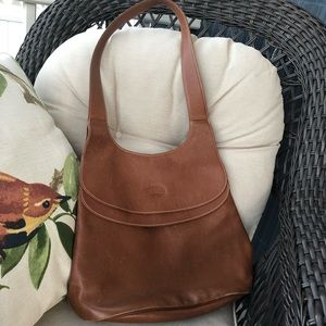 Longchamp Authentic Brown Leather Bag, Tote, Purse